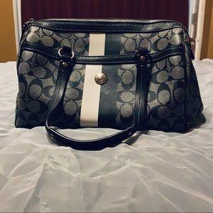 Coach black/gray hand bag